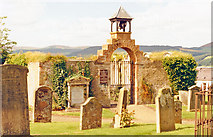 NT4728 : Selkirk: view west from Kirk of the Forest, 1988 by Ben Brooksbank