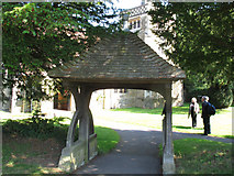TQ4251 : St Andrew, Limpsfield Chart: lych gate by Stephen Craven