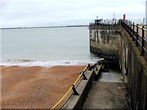 TR3140 : Steps leading down to Dover Beach by Chris Whippet