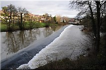 SO5074 : Weir on the River Teme at Ludlow by Philip Halling