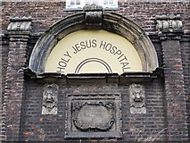 NZ2564 : (The former) Holy Jesus Hospital, City Road, NE1 - entrance (detail) by Mike Quinn
