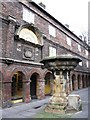 NZ2564 : (The former) Holy Jesus Hospital, City Road, NE1 - entrance and pant by Mike Quinn