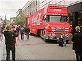 SX9163 : Coca-Cola Christmas Truck in Torquay by Derek Harper