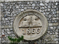 TG2726 : The plaque on the old school at Westwick by Adrian S Pye