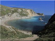 SY8080 : Man o' War Cove, E of Durdle Door, Dorset by Colin Park
