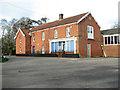 TM1598 : Crossroads in Wreningham by Evelyn Simak