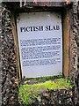 NH4858 : Pictish slab - Information plaque by Richard Dorrell