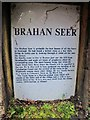 NH4858 : Brahan Seer - Information plaque by Richard Dorrell