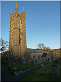 SX7176 : Last of the winter sun on Widecombe-in-the-Moor church by Ruth Sharville