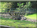 NU0224 : Footbridge over the Lilburn Burn by Les Hull