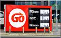 J3373 : Fuel price sign, Belfast (26 December 2014) by Albert Bridge