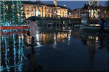 TQ3080 : Round the Christmas Tree, Trafalgar  Square, London W1 by Christine Matthews
