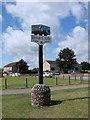 TG4803 : Burgh Castle village sign by Adrian S Pye