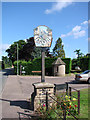 TL7278 : Eriswell village sign by Adrian S Pye