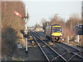 TL2796 : Train to Birmingham passing Whittlesea by Alan Murray-Rust