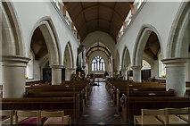 TQ4655 : Interior, St Martin's church, Brasted by J.Hannan-Briggs
