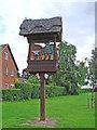 TL8261 : Horringer village sign by Adrian S Pye