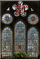 TQ4655 : Stained glass window, St Martin's church, Brasted by Julian P Guffogg