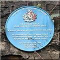 SJ9995 : Blue plaque for Edmund Shaa by Gerald England