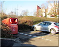ST2995 : British Heart Foundation clothing bank in the B&M car park, Cwmbran by Jaggery
