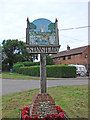 TL8449 : Stanstead village sign by Adrian S Pye