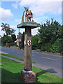TM2373 : Stradbroke village sign by Adrian S Pye