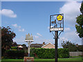 TM0659 : Stowupland village sign by Adrian S Pye