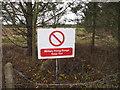 SD2905 : Firing range warning sign, Alcar by David Hawgood