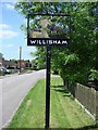 TM0650 : Willisham village sign by Adrian S Pye
