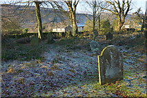 SD9772 : The older side of the churchyard by Bill Boaden