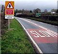 SO5324 : Reduce speed now, St Owen's Cross by Jaggery