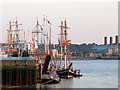 TQ3879 : Tall ships at Victoria Wharf (2) by Stephen Craven
