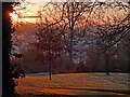 ST3087 : A frosty sunrise in Belle Vue Park by Robin Drayton