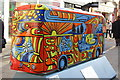 TQ3265 : Bus Art, 'Poppy the Party Bus' by Oast House Archive