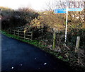 ST3089 : National Cycle Network signpost near Barrack Hill, Newport by Jaggery