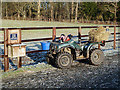 NT7034 : A quad bike and paddock field at Floors Castle Estate by Walter Baxter