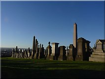 NS6065 : Gravestones at the Necropolis, Glasgow by Becky Williamson