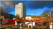 SP3378 : Cycle racks, Coventry Station by John Brightley