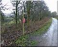 SK2071 : Monsal Trail direction sign post to Great Longstone by Steve  Fareham