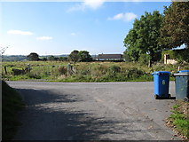 H9316 : Junction with farm access road on Cregganbane Road by Eric Jones