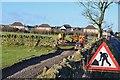 NT5347 : Path construction near Lauder by Jim Barton