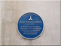 SU1429 : Plaque to Andrew Middleton by Stephen Craven