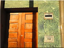 SP3378 : Door and stone cladding detail, Station Square, Coventry by John Brightley