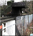SO5140 : North side of the road bridge over the railway SE of Hereford station by Jaggery