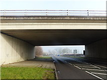 SK5815 : A6 Mountsorrel Bypass crossing Sileby Road by Mat Fascione