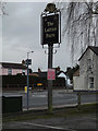TM1845 : The Lattice Barn Public House sign by Adrian Cable