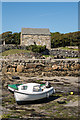 M1222 : Boats and chapel by Ian Capper