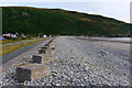 SH6112 : Anti-tank blocks on the beach at Fairbourne by Phil Champion