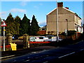 ST3090 : Right bend ahead triangular sign, Pillmawr Road, Malpas, Newport by Jaggery