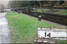 SD9625 : Rochdale Canal Lock 14 by michael ely